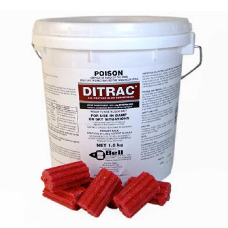 Ditrac Tomcat Ll Bait Blox 1 8Kg Sm